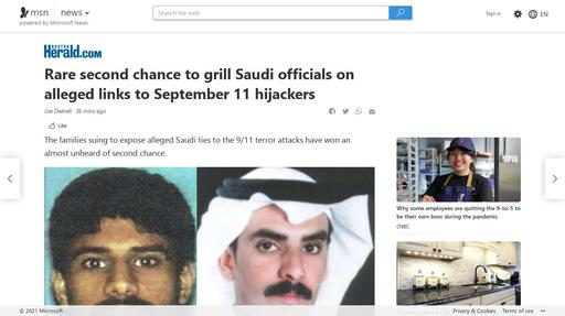 Rare second chance to grill Saudi officials on alleged links to September 11 hijackers Screenshot
