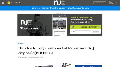 Hundreds rally in support of Palestine at N.J. city park (PHOTOS) Screenshot
