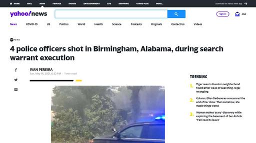 4 police officers shot in Birmingham, Alabama, during search warrant execution Screenshot