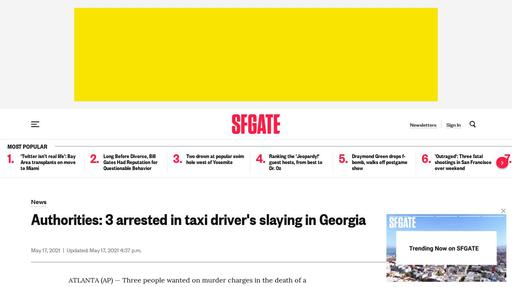 Authorities: 3 arrested in taxi driver's slaying in Georgia Screenshot