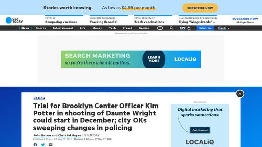 Trial for Brooklyn Center Officer Kim Potter in shooting of Daunte Wright could start in ... Screenshot