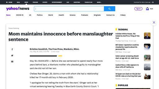 Mom maintains innocence before manslaughter sentence Screenshot