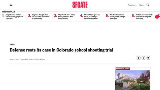 Defense rests its case in Colorado school shooting trial Screenshot