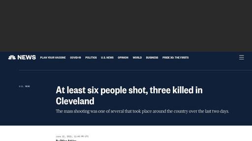 At least six people shot, three killed in Cleveland Screenshot
