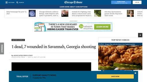 1 dead, 7 wounded in Savannah, Georgia shooting Screenshot