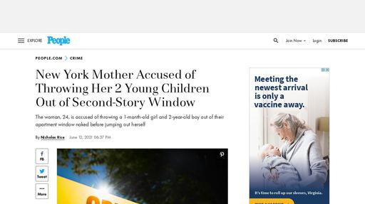 New York Mother Accused of Throwing Her 2 Young Children Out of Second-Story Window Screenshot