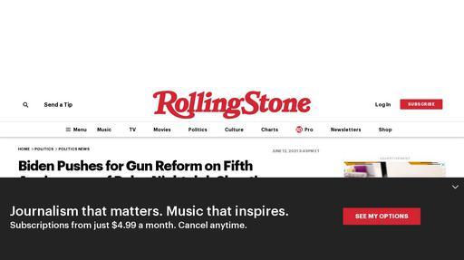Biden Pushes for Gun Reform on Fifth Anniversary of Pulse Nightclub Shooting Screenshot