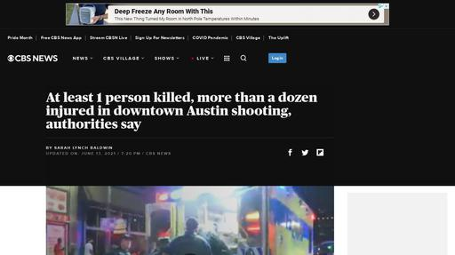 At least 1 person killed, more than a dozen injured in downtown Austin shooting, authorities say Screenshot