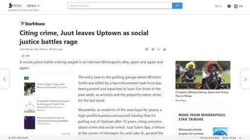 Citing crime, Juut leaves Uptown as social justice battles rage Screenshot
