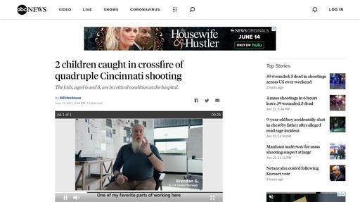 2 children caught in crossfire of quadruple Cincinnati shooting Screenshot