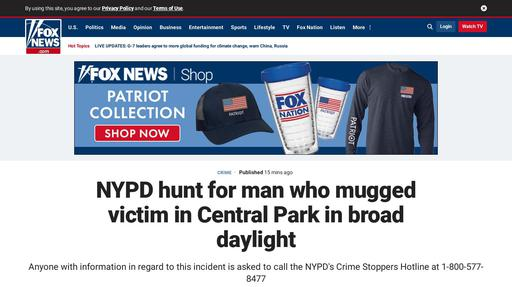 NYPD hunt for man who mugged victim in Central Park in broad daylight Screenshot