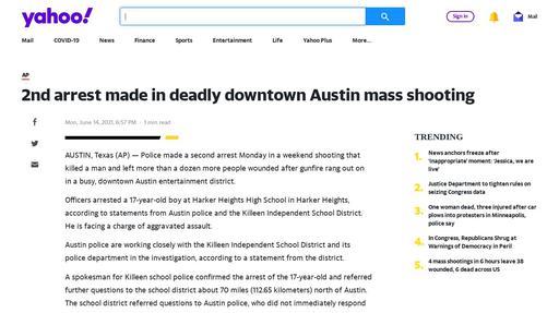 2nd arrest made in deadly downtown Austin mass shooting Screenshot