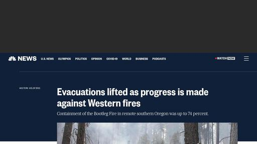 Evacuations lifted as progress is made against Western fires Screenshot