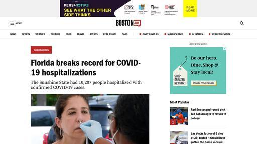 Florida breaks record for COVID-19 hospitalizations Screenshot