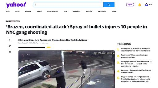 'Brazen, coordinated attack': Spray of bullets injures 10 people in NYC gang shooting Screenshot