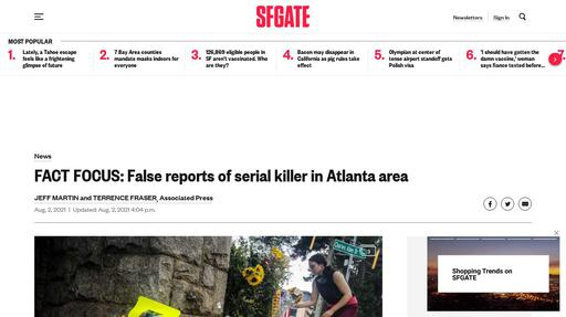 FACT FOCUS: False reports of serial killer in Atlanta area Screenshot