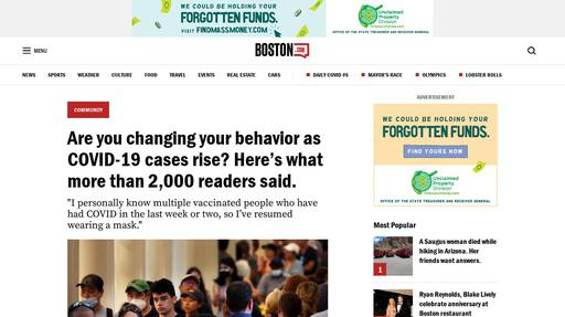 Are you changing your behavior as COVID-19 cases rise? Here's what more than 2,000 readers said. Screenshot