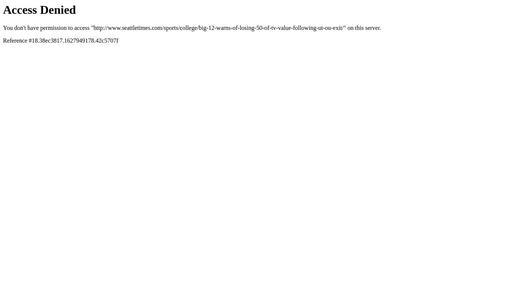 Big 12 warns of losing 50% of TV value following UT/OU exit Screenshot