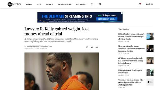 Lawyer: R. Kelly gained weight, lost money ahead of trial Screenshot