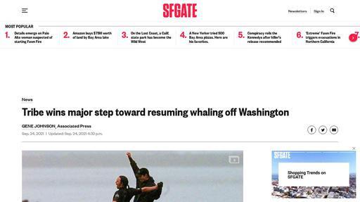 Tribe wins major step toward resuming whaling off Washington Screenshot