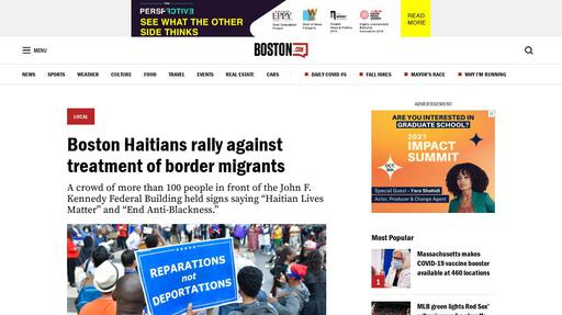 Boston Haitians rally against treatment of border migrants Screenshot