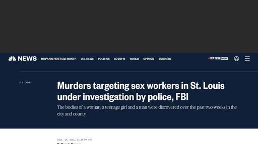Murders targeting sex workers in St. Louis under investigation by police, FBI Screenshot