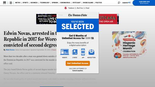 Edwin Novas, arrested in the Dominican Republic in 2017 for Worcester killing, convicted of second degree murder Screenshot