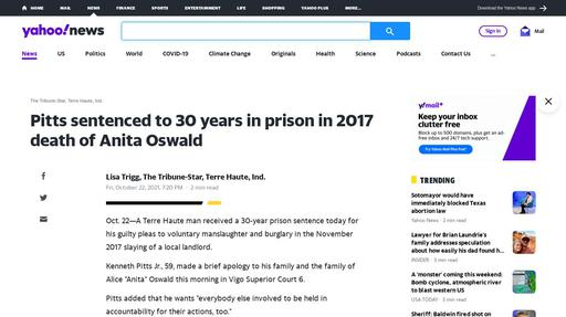 Pitts sentenced to 30 years in prison in 2017 death of Anita Oswald Screenshot