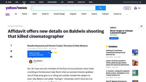 Affidavit offers new details on Baldwin shooting that killed cinematographer Screenshot