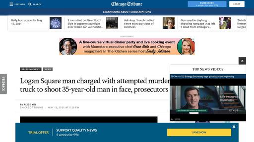 Logan Square man charged with attempted murder took selfie, rode tow truck to shoot 35-year ... Screenshot
